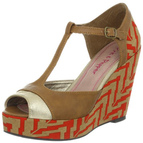 Pink Pink Pink & Pepper Women's Fabiola Wedge Sandal B009LJH356 Parent 665c11