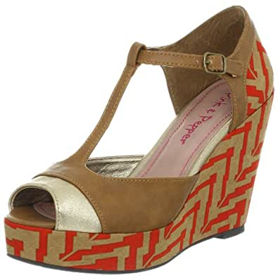 Amazon Com Pink Amp Pepper Women S Fabiola Wedge Sandal
