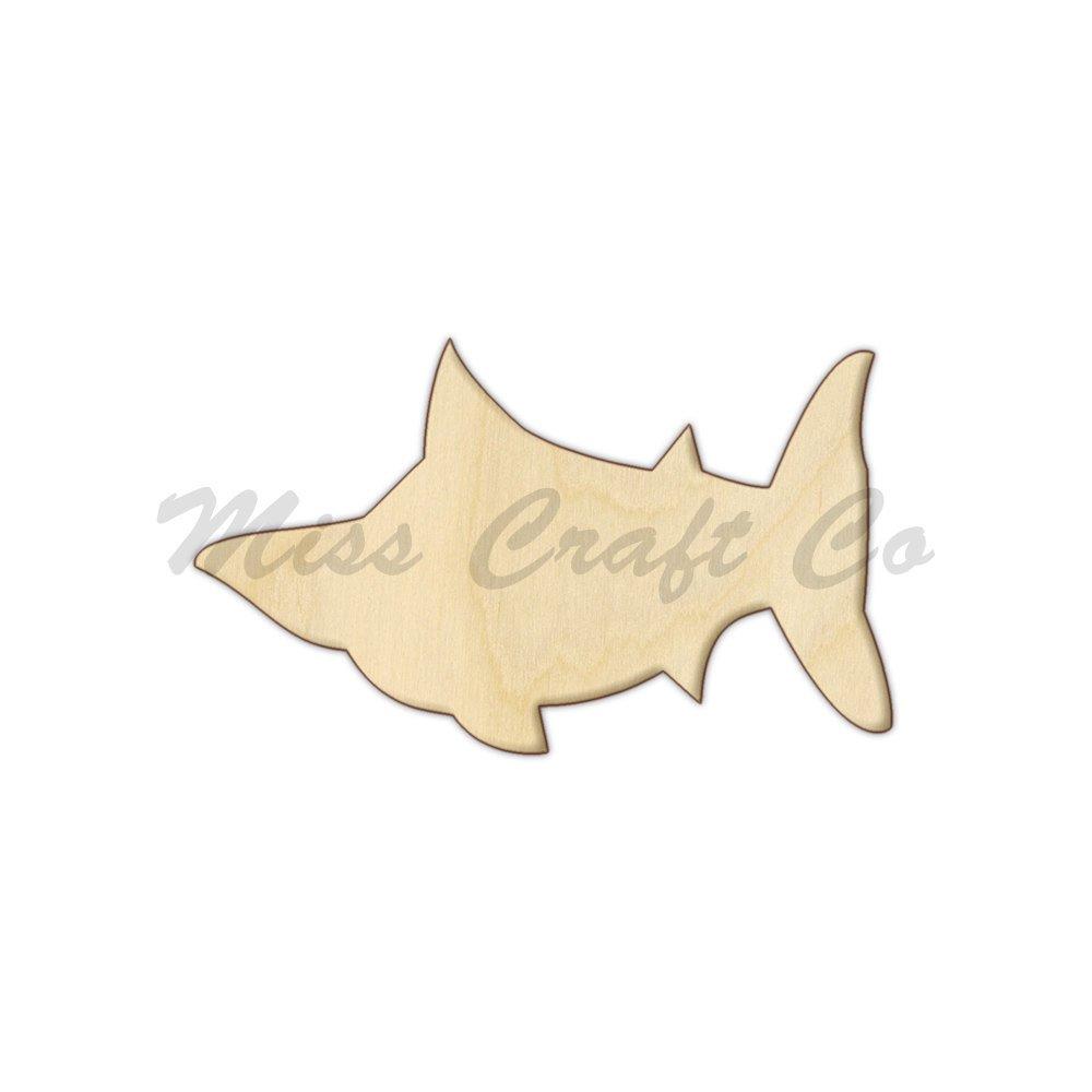 Amazon.com: Sailfish Wood Shape Cutout, Wood Craft Shape ...