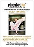 8 x 10'' 100 Sheets Premium Natural Matte Inkjet Paper 230gsm