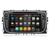 ford s max accessories - 2G 32G 7 Inch Quad Core Android 6.0 Double 2 Din Radio Multimedia Receiver in Dash GPS Navigation,HD 1024x600 Touch Screen with Bluetooth & Built-in USB Port for Ford/Focus/S-MAX/Mondeo/C-MAX/Galaxy