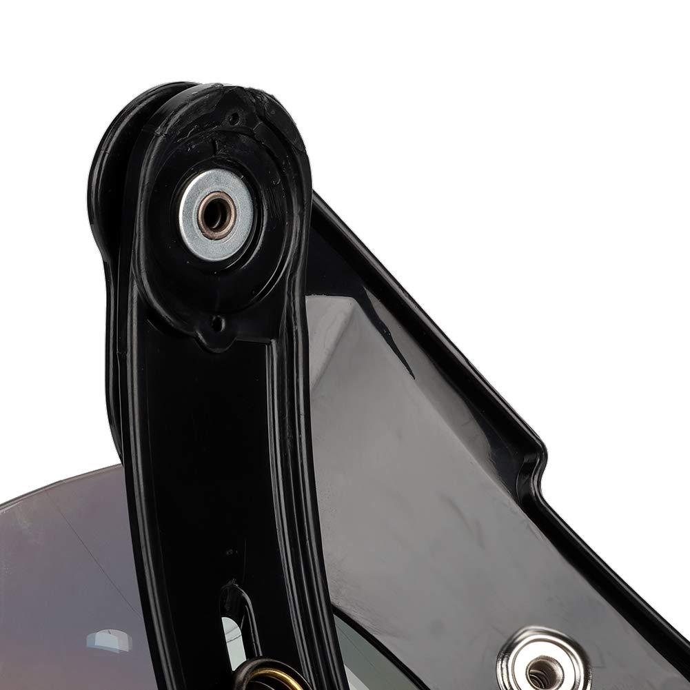 Liukouu Motorcycle Retro 3-snap Sun Visor Shield elmetto per casco antivento colorato