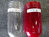 Lot of 2 Killark Red/Clear Glass Globe VRG-100 100 watt Size U series fixtures
