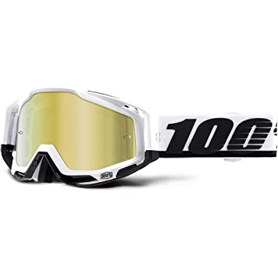 100% Racecraft Adult Off-Road Motorcycle Goggles - Stuu/Gold Lens/One Size: Automotive