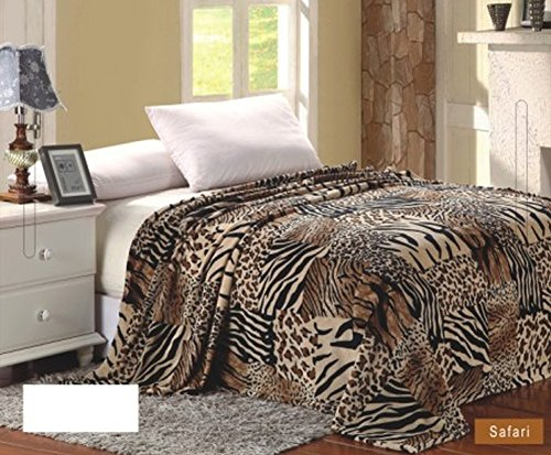Zebra Faux Fur Throw - 8