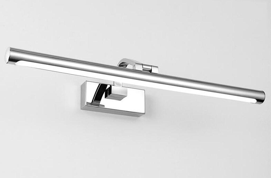 Edelstahl-geführte Spiegel-Licht-Spiegel-Kabinett-Licht-Badezimmer-Toilette Einfache Wand-Lampen-wasserdichte Feuchtigkeit Anti-Fog-Spiegel-Beleuchtungs-Beleuchtung (Farbe   weißes Licht-52cm)