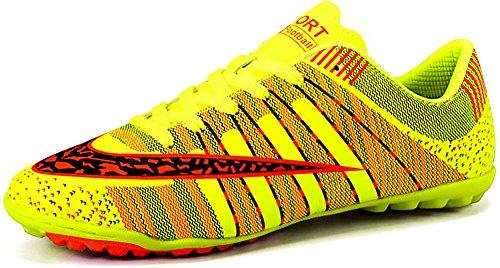 JiYe Men Soccer Shoes for Women Turf Shoe Indoor Cross Training by, Green,37 EU=5.5US-Kids/6US-Women