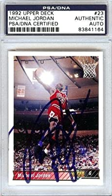 Michael Jordan Autographed Signed 1992 Upper Deck Card #23 Chicago Bulls - PSA/DNA Certified - Basketball Autographed Cards