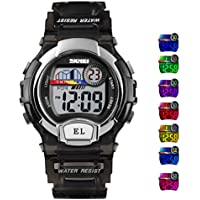 lilihe Kids Digital Watch,Boys Sports Waterproof Led Watches with Alarm,Wrist Watch for Boys Girls Childrens, Best Gifts for Boys