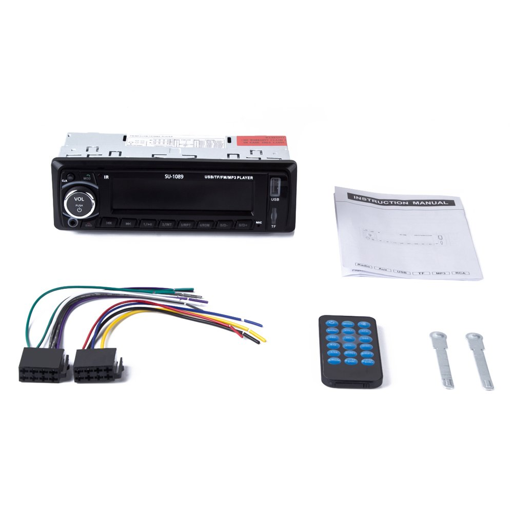 51QzzzpT4tL._SL1000_ amazon com car stereo receiver (with bluetooth usb sd aux fm  at couponss.co