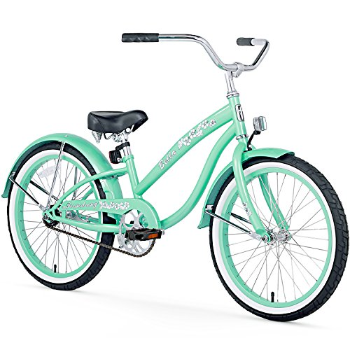 Girls Beach Cruiser Bikes - Firmstrong Bella Classic Girl's Single Speed Cruiser Bicycle, 20-Inch, Mint Green