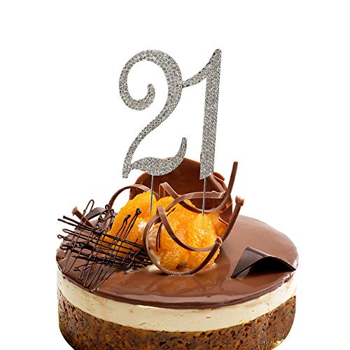 Cake Decorations Ideas - HOKPA 21st Rhinestones Cake Topper, Number