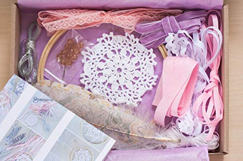 DIY Dreamcatcher Crafting Kit Valentines day Gift Dream catcher Diam 6.2'/15.5cm Creative Craft set for adults Do it yourself Boho Birthday Gift for girls Bridesmaids Gift Art from WORLDREAMER