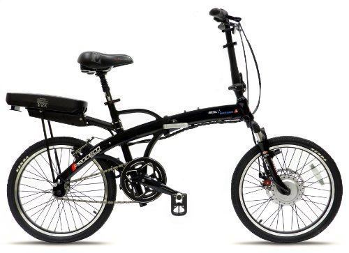 Prodeco V3 Mariner Sport Folding Electric Bicycle, Black Pearl Metallic Gloss, 20-Inch/One Size