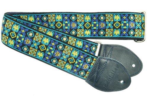 Souldier GS0912NV02NV Custom USA Handmade Woodstock Electric Guitar Strap - Navy Blue