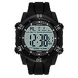 MAARYEE NORTH Brand Men Sports Watches Waterproof Electronic LED Digital Wristabnd Watch Male Clock For Man (Black)