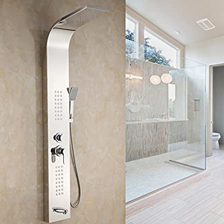 DXDJ Mampara de ducha, ducha de acero inoxidable 304 Set / mampara de ducha, ducha ducha, cabeza de ducha, cabeza de ducha,Un: Amazon.es: Hogar