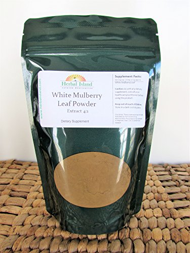 White Mulberry Leaf Extract 4:1 Powder 4 OZ (Silkworm) with Free Shipping