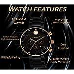 Lamkei Imported Analogue Quartz Date Black Dial Men Watch – LAM-1134