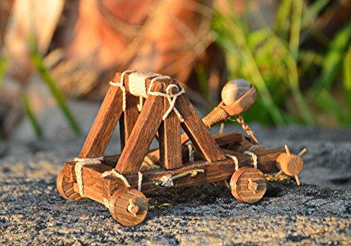 Handmade working mini desktop catapult -