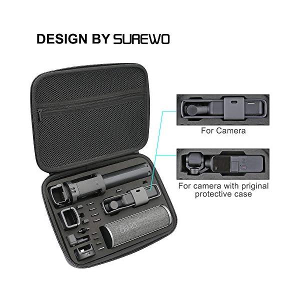 Surewo, custodia impermeabile per il trasporto, custodia da viaggio compatibile con DJI Osmo Pocket (media) 3 spesavip