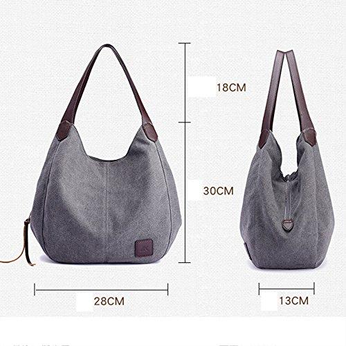 Jade Bag Multi Bag Handbags Bag Fashion Layer Casual Canvas Handbag Shoulder Simple wwFr6P