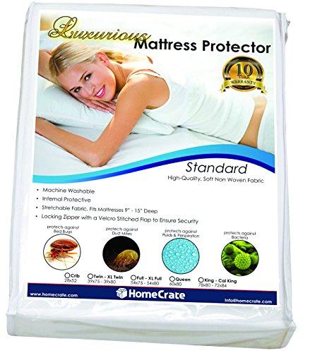 HomeCrate Natural Sleep Defence – Standard Water-Resistant/Bed Bug Proof Mattress Encasement 78″ by 80′ King,
