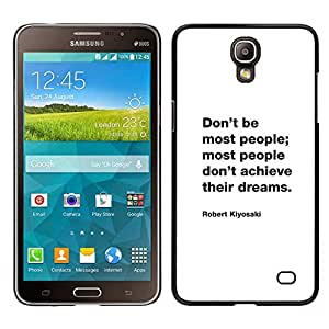 iKiki Tech / Estuche rígido - Cita de motivación inspiradora - Samsung Galaxy Mega 2