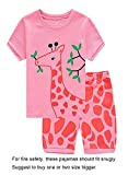 Family Feeling Deer Big Girls' Sleepwear pj Set T-Shirt & Pants Size 14-15 Years