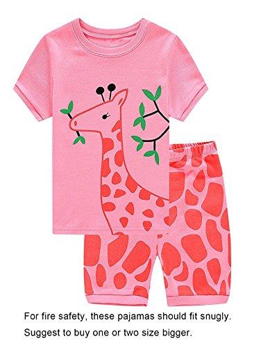 Family Feeling Deer Little Girls' Sleepwear Toddler Pajama Set Pjs Size 5 Years by Family Feeling
