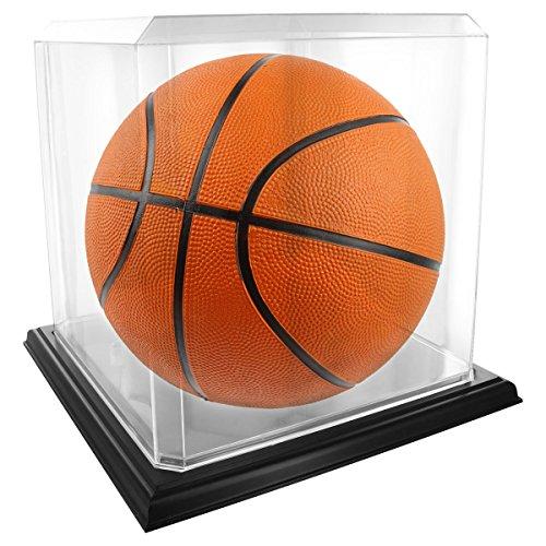 US Flag Store FLGCSHB1000033633 Acrylic Basketball Black Base Display Case, Clear
