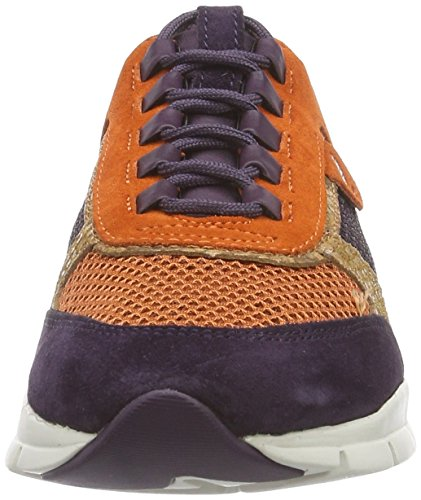 para de PURPLE mujer DK C8H7LDK Geox Sukie ORANGE multicolor Mehrfarbig D deporte Zapatillas npxCtgwXqf