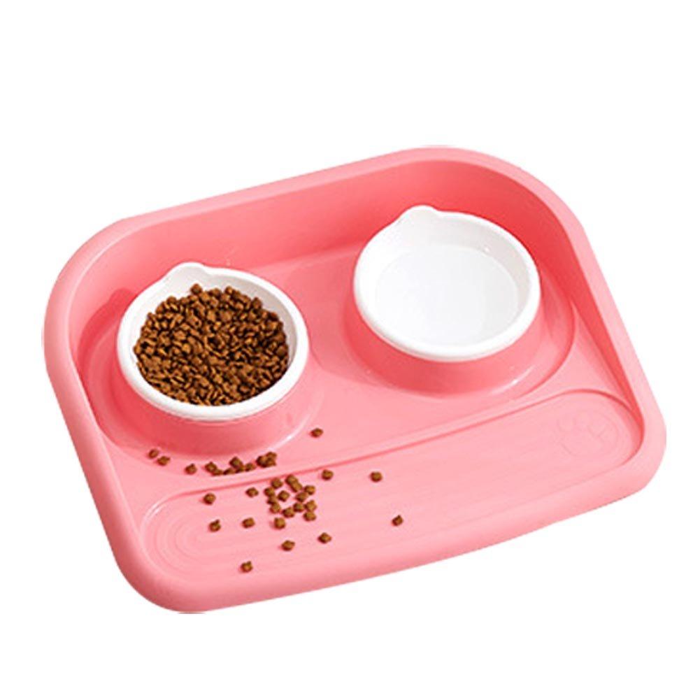 ASOSMOS Pet doppia ciotola gatto cucciolo di cane acqua cibo mangiatoia automatica dispenser potabile Dish anti scivolo ciotole ASOSMOS-1000075