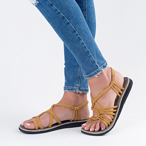 Yellow Sand Plaka for Jeans Sandals sole Women Summer by xYw6PwZn