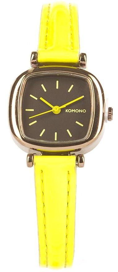 Komono KOM-W1204 - Reloj, correa de cuero color amarillo