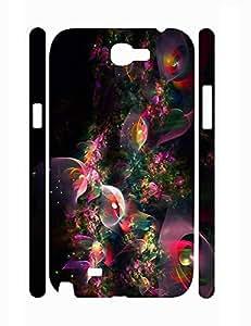 Fantastic Design Pretty Neon Flowers 3D Print Phone Case for Samsung Galaxy Note 2 N7100