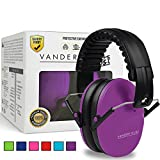 Tools & Hardware : Vanderfields Earmuffs for Kids Toddlers Children - Hearing Protection Ear Defenders for Small Adults Women - Foldable Design Ear Defenders Adjustable Padded Headband Noise Reduction (Purple Power)