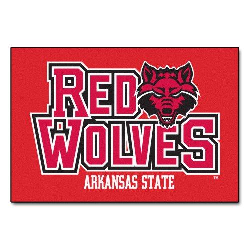 Fanmats NCAA Arkansas State University Red Wolves Nylon Face Starter Rug ()
