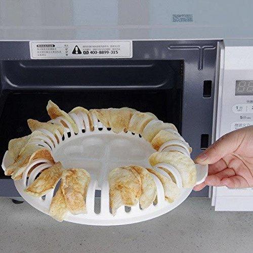 Homemade microondas horno patatas chips Crisp herramienta hace que ...