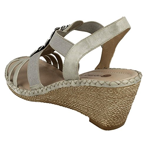 Remonte - Zapatos con correa de tobillo mujer Grey Combi (Grey)