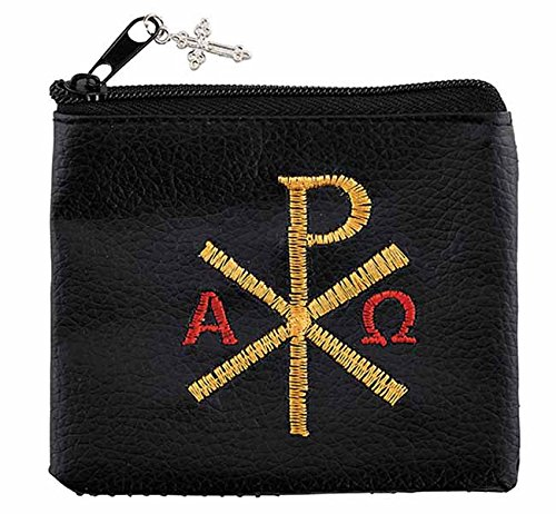 Chi Rho Embroidered Rosary Case product image