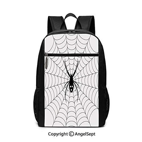 Fashion School Backpack,Poisonous Bug Venom Thread Circular Cobweb