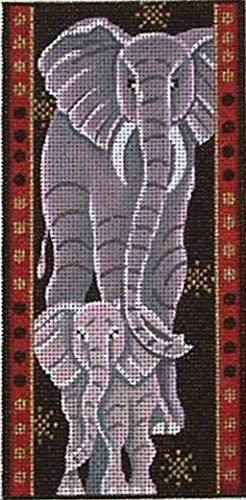 (Elephant, Hand Painted Needlepoint Design, 3.5