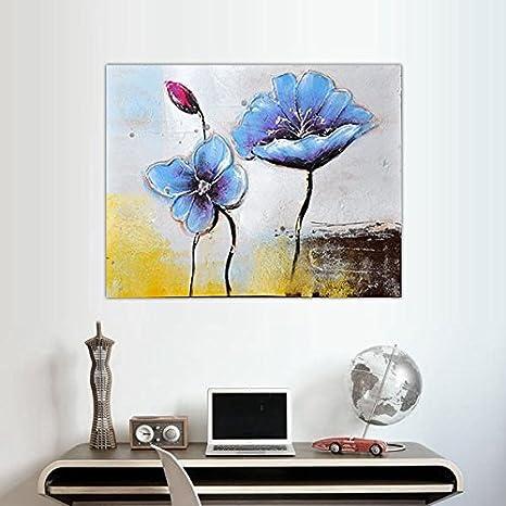 Composition Carrés Fleurs Modernes Tableaux Peinture Fleur