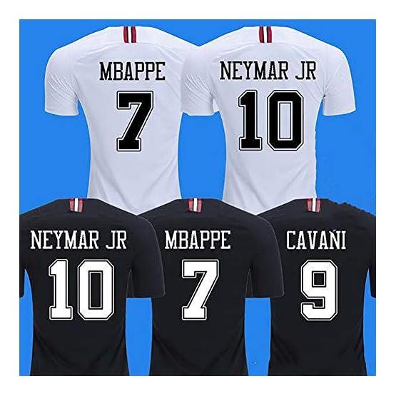 Maillot Mbalo N ° 7 Neymar Maillot N ° 10 Paris Saint-Germain Maillot Champions League Neymar à Domicile Uniforme de Football