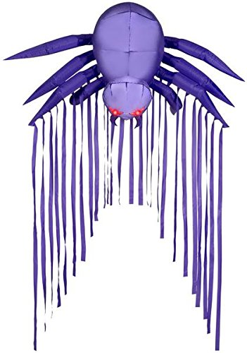 6' Door Archway Airblown Purple Spider Halloween Inflatable by Gemmy