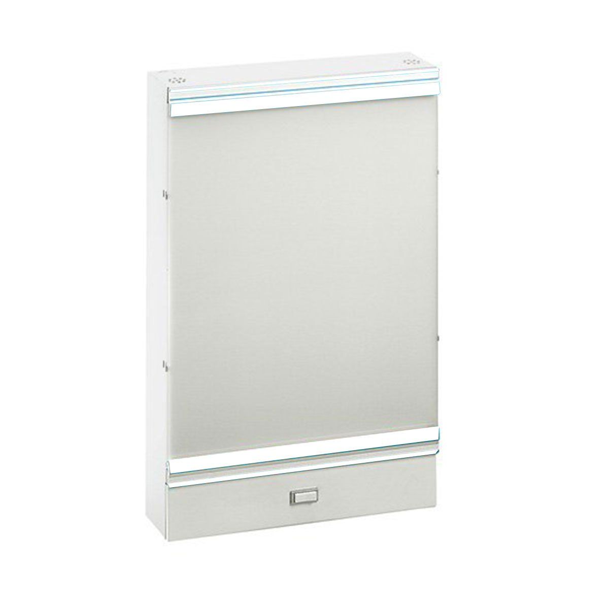 PDC Healthcare 501D Illuminator, 1 Section, 14'' x 17'' Viewing Area, Wall Mount, 14'' x 21'' x 3-3/8'', White