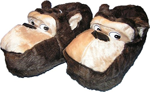 Pfüller Affen Hausschuhe Tierhausschuhe lustige Pantoffel