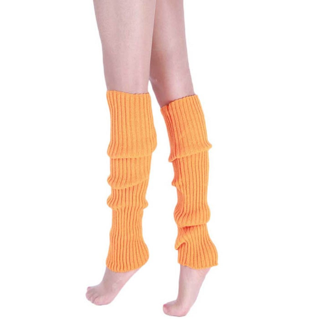 Malloom® Donna Caldo Calza Calzini di Inverno Scaldamuscoli Maglia (arancione)