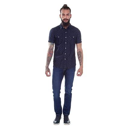 8b974418eb Camisa Jeans Levis Masc Short Sleeve Classic Western Escuro  Amazon.com.br   Amazon Moda
